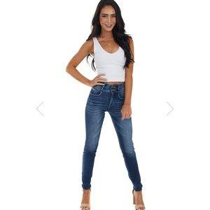 KanCan Light Wash High Waisted Denim Jeans Size 26